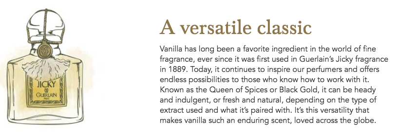 Syrmise vanilla perfume information