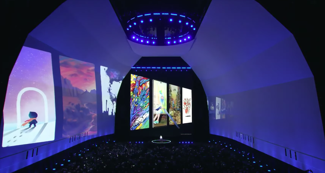 S Pen being announced at Unpacked August 2019