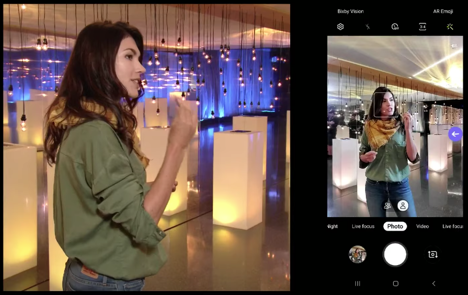 Eva zu Beck demonstrating gesture control with S Pen on Note 10